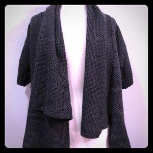 Ann Taylor open knit cardigan Gray Small